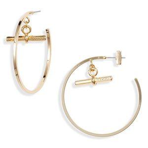 ALLSAINTS Bar on Hoop Earrings